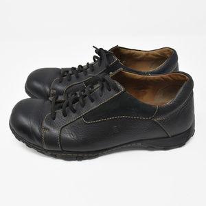 Born Sz 12 Black Leather Lace Up Oxford Shoes